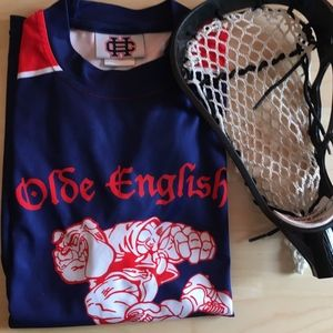 Olde English Lacrosse Boys Jersey & FREE LAX HEAD